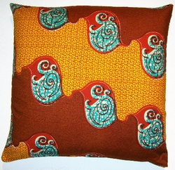 DW17 Untreated cotton  African wax printed pillow cover
