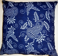 BP6 Indigo block pritned pillow cover