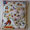 CT7 Screen printed cotton retro state of Texas pillow cover