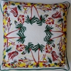 CT8  Screen printed cotton retro tropical ilse pillow cover