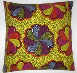 DW003 Dutch wax printed cotton pillow cover