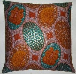 DW13 Untreated cotton Dutch wax print pillow cover