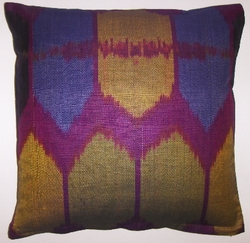 IKT0114 Silk/cotton ikat pillow cover