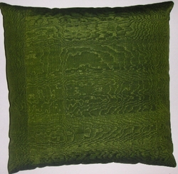 IKT052 Silk/cotton moire ikat pillow cover