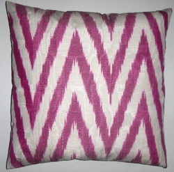 IKT067 Silk/cotton ikat pillow cover