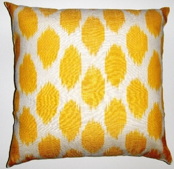 IKT112 Silk/cotton ikat pillow cover