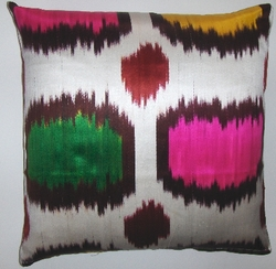IKt115 Silk ikat pillow cover