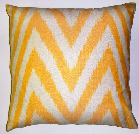 IKT130 Silk/cotton ikat pillow cover