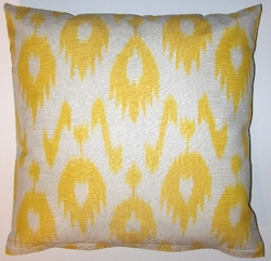 IKT143 Silk/cotton ikat pillow cover