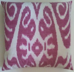 IKT153 Silk/cotton ikat pillow cover