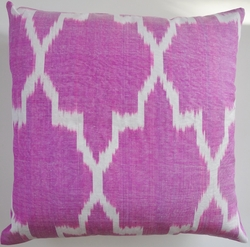 IKT156 Silk/cotton ikat pillow cover