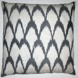 IKT58 Silk/cotton ikat pillow cover