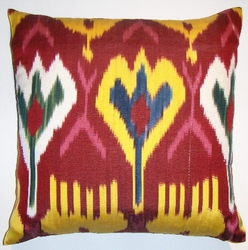 IKT87 Silk/cotton ikat  pillow cover