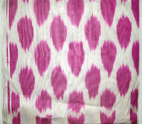 IKTFAB068 Silk/Cotton ikat fabric by the yard