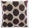IKTVLT01 Silk velvet ikat pillow cover