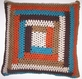 OC020 Untreated cotton hand crocheted pillow cover
