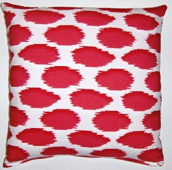 OC030 Cheeky Ikat Print Rouge organic cotton pillow cover