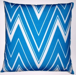 OC31 Printed organic cotton flamestitch pillow cover