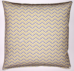 OC35 Printed organic cotton bargello pillow cover