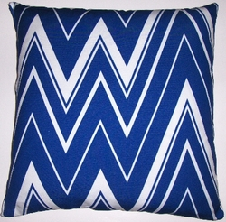 OC43 Printed organic cotton flamestitch pillow cover