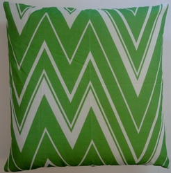 OC56 Printed organic cotton flamestitch pillow cover