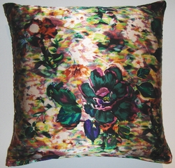 SLK3 printed silk charmeuse pillow cover