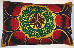 SZN48 Hand embroidered vintage suzani pillow cover
