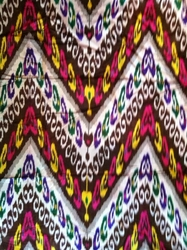 THIKT3 Silk/cotton ikat throw/ bedcover