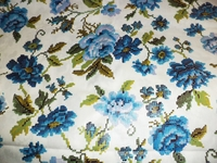 VTGFAB4 Vintage Duralee floral fabric by the yard