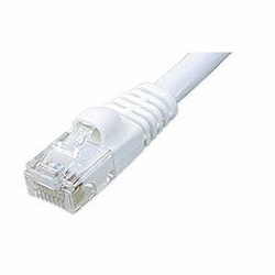 CAT6 Patch Cable, W/ Boot 2ft, White
