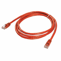 CAT6 Patch Cable, W/ Boot 5ft, Red