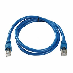 CAT6a, Stp Patch Cable, W/ Boot 1ft, Blue