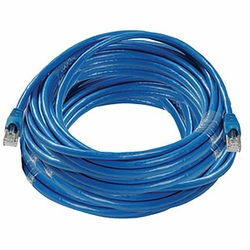 CAT6a, Stp Patch Cable, W/ Boot 50ft, Blue
