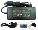 Compaq Presario 18.5v 4.9a, 90 Watt AC Adapter Charger, Power Cord, 5.5x2.52 plug