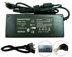 Compaq Presario 19v 3.95a, 75 Watt AC Adapter Charger, Power Cord, 5.5x2.51 plug