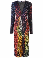 Preen vi dress multi leopard