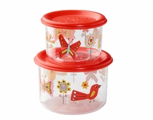 2 Pack Snack Container -- Birds & Butterflies