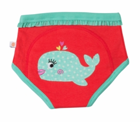 3 Pack Potty Training Pants --Girl's Ocean (100% Organic Cotton!)