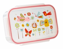 Clip -top Lunch Box -- Birds & Butterflies