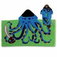 Hooded Towel -- Pirate Octopus