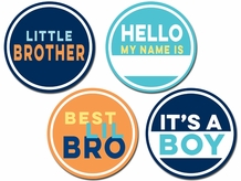 Little Brother Belly Stickers 4 Pack