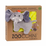 Soft Baby Blanket with Plush Toy -- Elephant