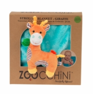 Soft Baby Blanket with Plush Toy -- Giraffe