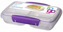 Split Snack Container with Colored Clip (Bright)