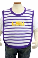 Stripe Knit Bib - LSU
