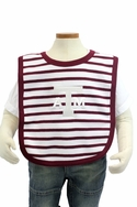 Stripe Knit Bib - Texas A&M