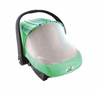 Sun & Bug Car Seat Cover -- Available in Pink or Green