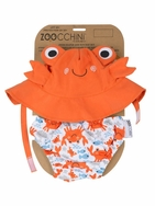 Swim Diaper & Hat - Crab (Size 6-24 months)