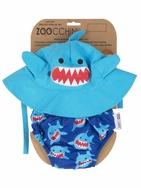 Swim Diaper & Hat - Shark (Size 6-24 months)