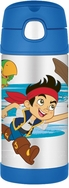 Thermos Jake & The Neverland Pirates FUNtainer Stainless Steel Straw Bottle